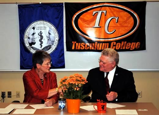 Tusculum College Signs Affiliation Agreement With The Lmu Debusk