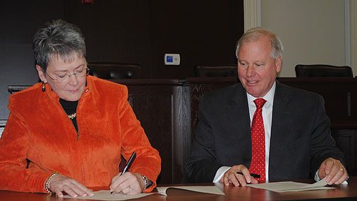 Tusculum And Lmus Carter And Moyers School Of Education Sign